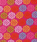 Blizzard Fleece Fabric 59\u0022-Bright Pink Daisy