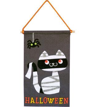 Little Makers Halloween Banner-Mummy Cat