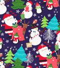 Christmas Cotton Fabric 44\u0022-Santa\u0027s in Town