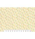 Premium Cotton Print Fabric 43\u0027\u0027-Yellow Striped Geos on Pearl
