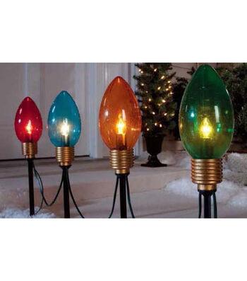 Maker's Holiday 4Pc Jumbo Bulb Pathway Lights