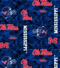 Ole Mississippi Rebels Fleece Fabric -Digital Camouflage