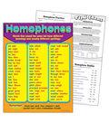 Homophones Learning Chart 17\u0022x22\u0022 6pk