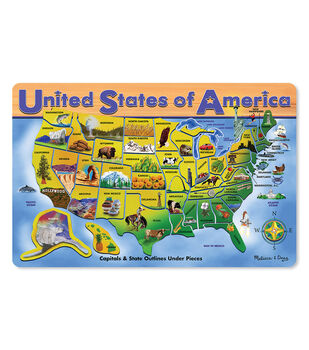 "U.S.A. Map Puzzle, 12"" x 16"", 45 pcs"