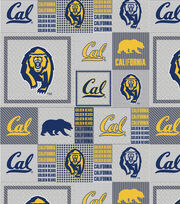 University of California, Berkeley Fleece Fabric -Gray Block, , hi-res