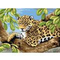 15-1/4\u0022x11-1/4\u0022 Junior Paint By Number Kit-Leopard In Tree