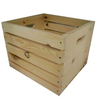 Rustic Milk Crate