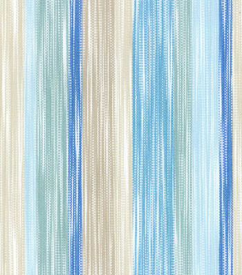 Dena Upholstery 8x8 Fabric Swatch-Painted Lines/Tidepool