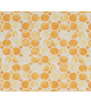 Keepsake Calico Cotton Fabric-Yellow Mosaic Honeycomb