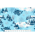 Christmas Cotton Fabric 43\u0022-Glitter Winter Landscape