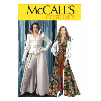 McCall's Pattern M6819-Collared Coat, Top, Corset and Belt