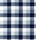 Snuggle Flannel Fabric -Skylar Navy & Gray Plaid