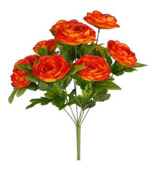 Fresh Picked Spring 18'' Ranunculus Bush-Orange