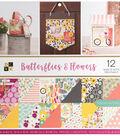 DCWV 36-sheets 12\u0027\u0027x12\u0027\u0027 Cardstock-Butterflies & Flowers