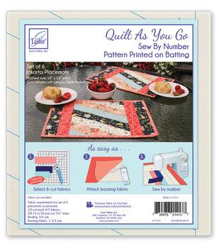 June Tailor Quilt As You Go Batting Placemats-Jakarta