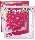 Sizzix Thinlits Dies By Lindsey Serata -Floral Tri-Fold Card