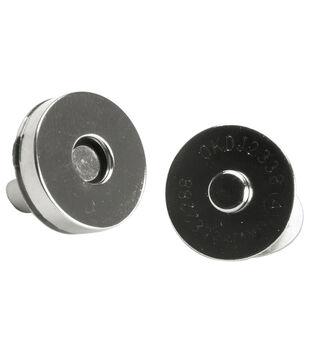 683e567dfa7d5 Bag Works Magnetic Purse/Tote Snap 1/Pkg-Silver