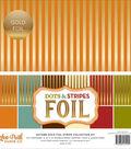 Double-Sided Dots & Stripes Foil 12\u0022X12\u0022-Autmm Gold Foil