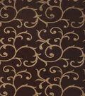 Home Decor 8\u0022x8\u0022 Fabric Swatch-Print Fabric Eaton Square Charles Chocolate
