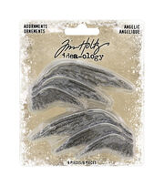 "Idea-Ology Metal Adornments 1.5"" To 2.75"" 6/Pkg-Angelic, , hi-res"