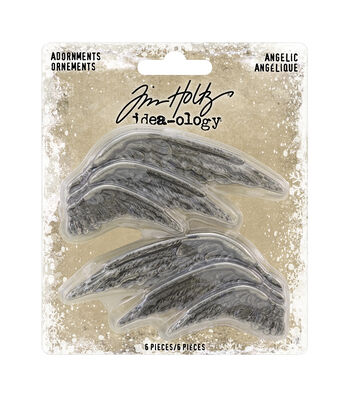 "Idea-Ology Metal Adornments 1.5"" To 2.75"" 6/Pkg-Angelic"