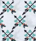 Luxe Flannel Fabric 42\u0027\u0027-Culture Arrows Black & White