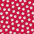 Christmas Cotton Fabric-Glitter Santas & Snowflakes