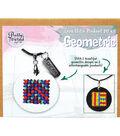 Pretty Twisted Cross Stitch Pendant DIY Kit-Geometric