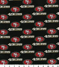San Francisco 49ers Cotton Fabric -Black