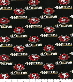 San Francisco 49ers Cotton Fabric -Black