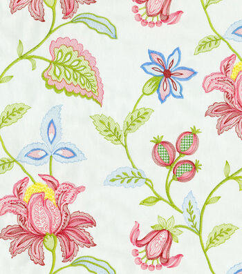 "Williamsburg Upholstery Fabric 52""-Kerala Emb/Jewel"