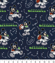 Seattle Seahawks Cotton Fabric-Mickey Mouses, , hi-res