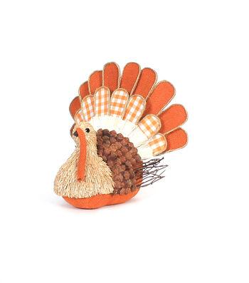 Simply Autumn Sisal Turkey Decor
