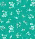 Quilter\u0027s Showcase Fabric -Ditsy Floral on Pool Green