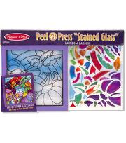 Melissa & Doug Peel & Press Stained Glass Art Kit-Rainbow Garden, , hi-res