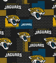 Jacksonville Jaguars Cotton Fabric 58''-Black, , hi-res