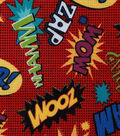 Novelty Cotton Fabric 43\u0027\u0027-Superhero Words