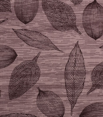 "Harvest Cotton Fabric 43""-Tossed Modern Leaves"