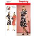 Simplicity Pattern 1587R5 14-16-18-2-Misses Dresses