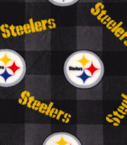 Pittsburgh Steelers Fleece Fabric -Buffalo Plaid, , hi-res