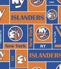 New York Islanders Fleece Fabric 60\u0027\u0027-Block