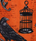 Halloween Cotton Fabric -Bewitching Crow