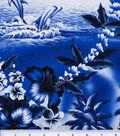 Tropical Shirting Fabric 43\u0022-Dolphin