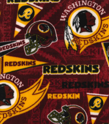 Washington Redskins Fleece Fabric -Retro