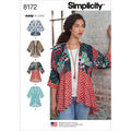 Simplicity Pattern 8172 Misses\u0027 Easy-to-Sew Kimonos-Size A (XXS-XXL)