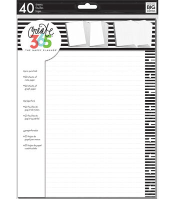 The Happy Planner Big Note Paper-Lined & Graph