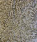 Casa Embellish Autumn Winter Heavy Embellished Mesh Fabric -Gold