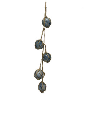 Indigo Mist Glass Ball Garland-Blue
