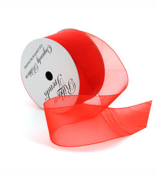 Ribbon Trends Organdy Ribbon 1/4''-Red Solid