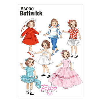 Butterick Crafts Doll Clothes-B6000